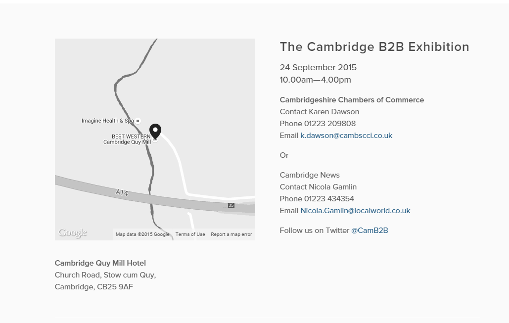 Cambridge B2B Exhibition
