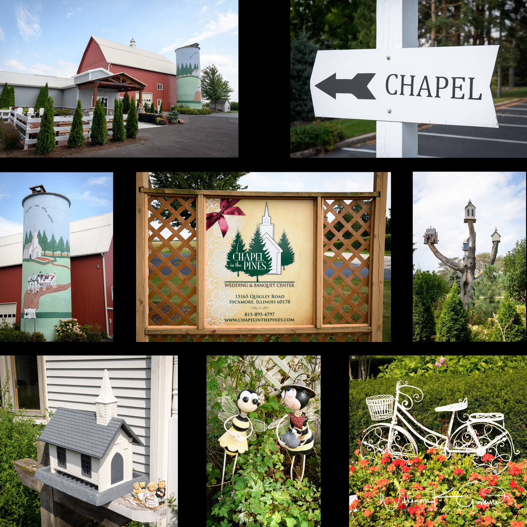 The buildings and grounds have great locations for portraits and many whimsical items throughout the area.