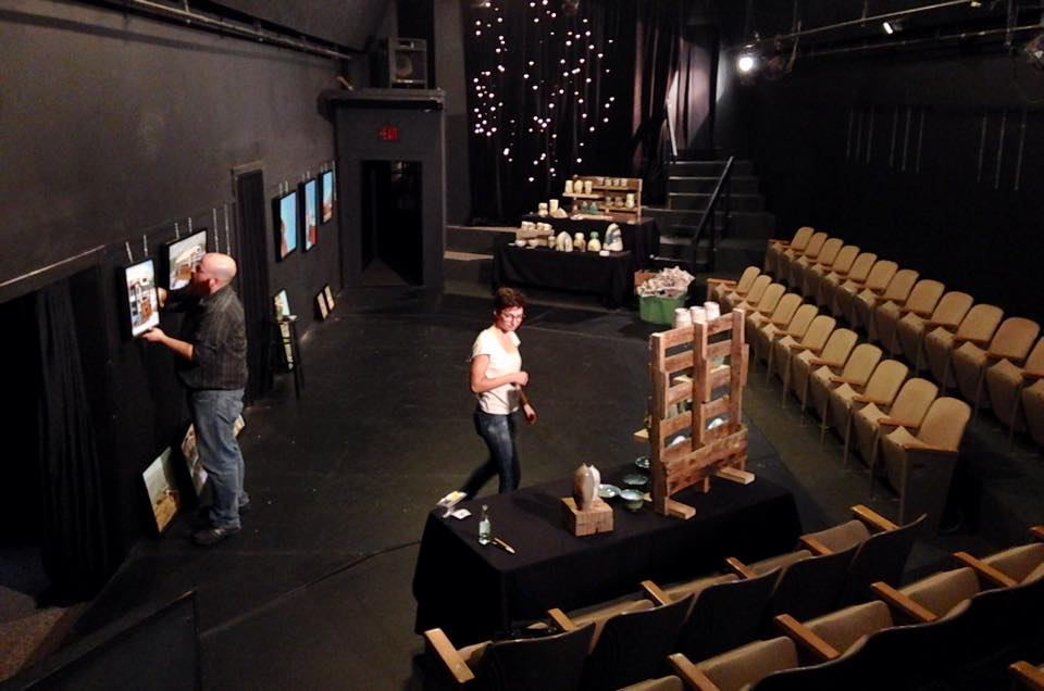 Setting up at Art House this week.