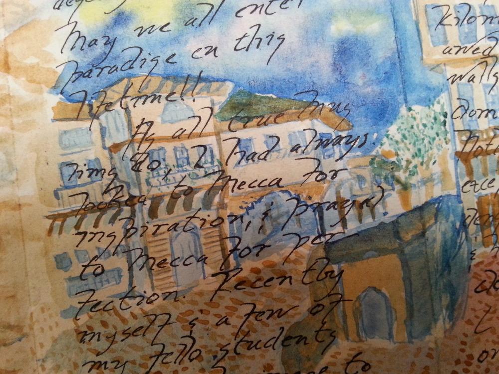 'A Pilgrimmage tu Mecca', a fold-out book, panel 4