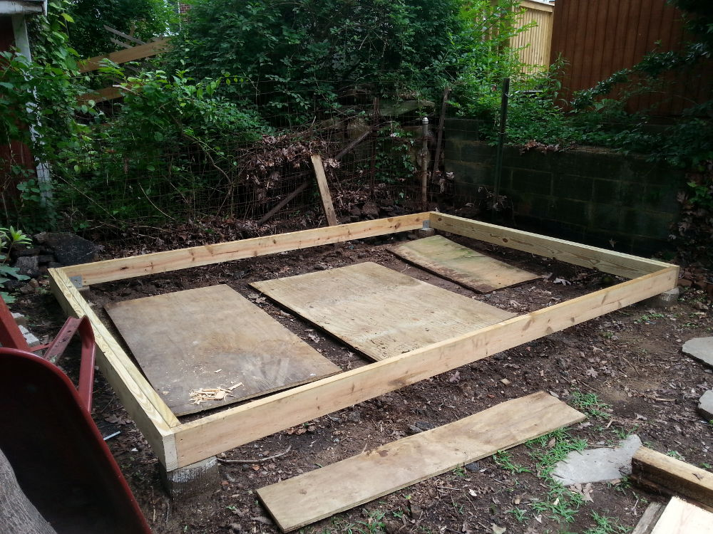 rebuilding a shed, 1: foundation