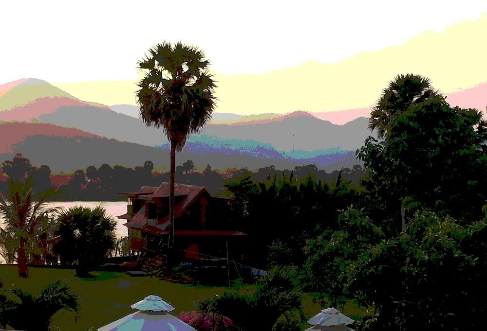 view from Villa Vedici, Kompot, Cambodia