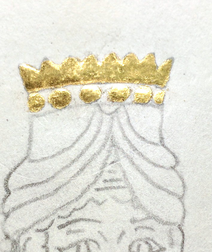 illuminated crown, close-up