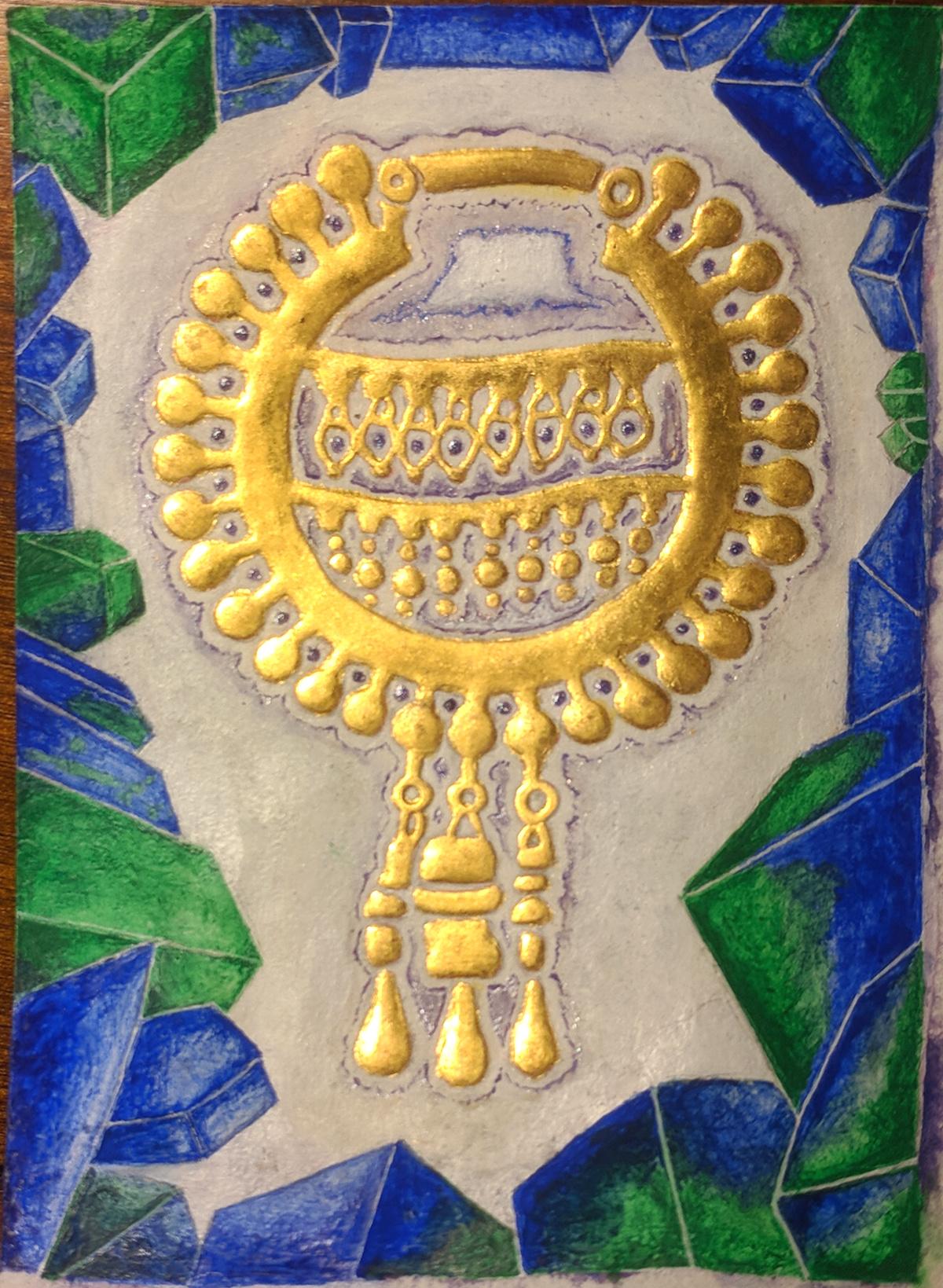 Achaemenid gold earing