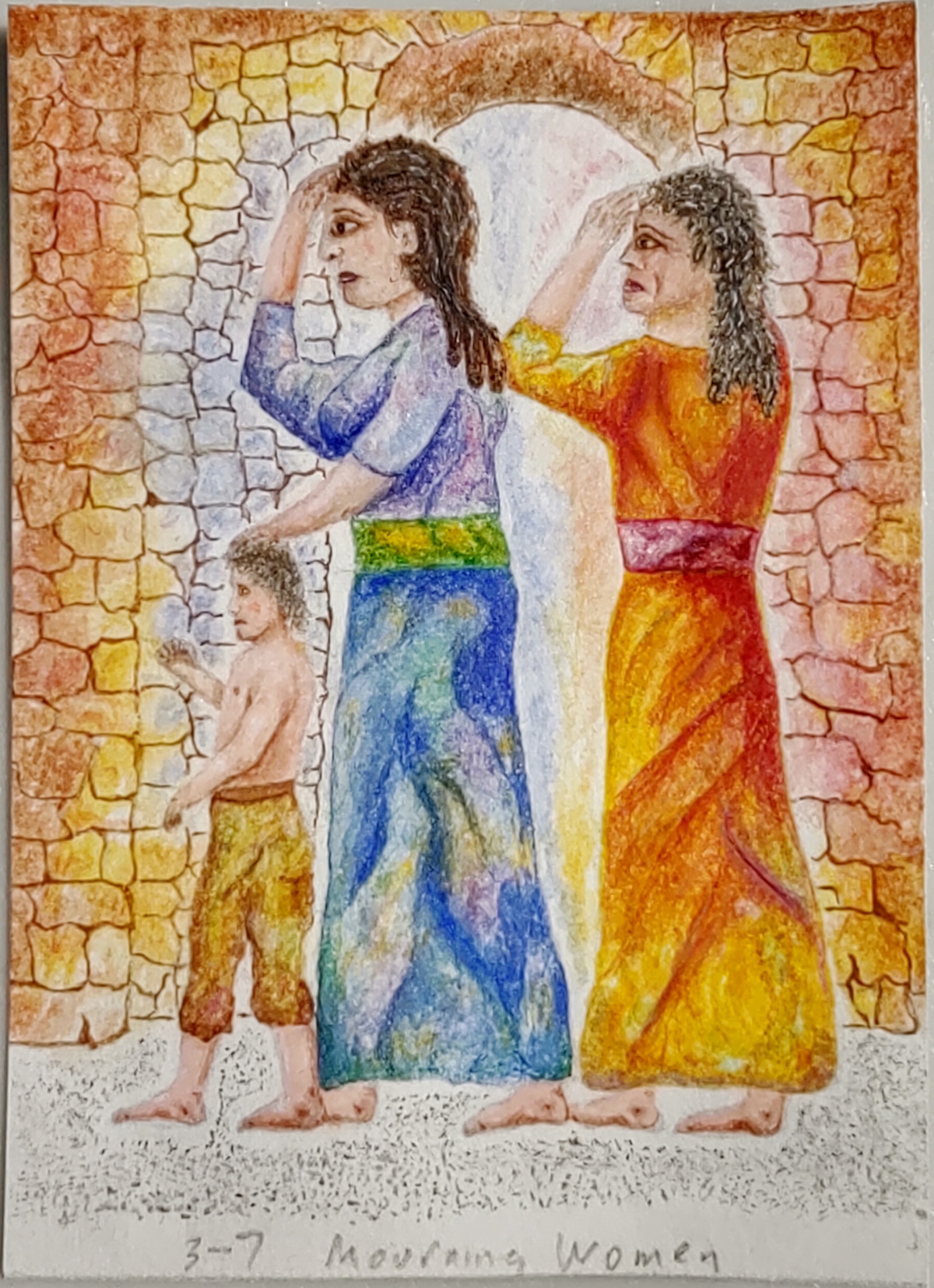 Jewish women mourning at the evil decree