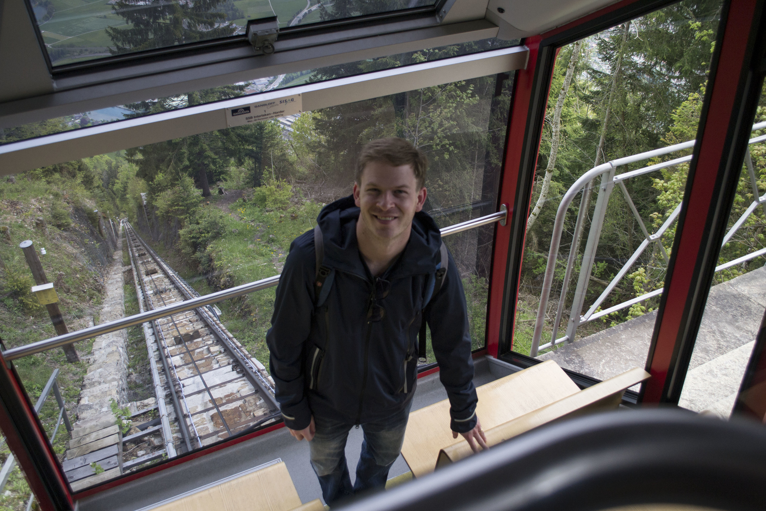 Tram up the mountain