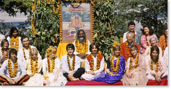 Paul and George with Maharishi