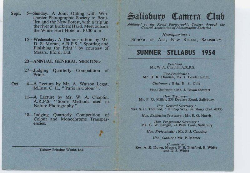 Programme 1954