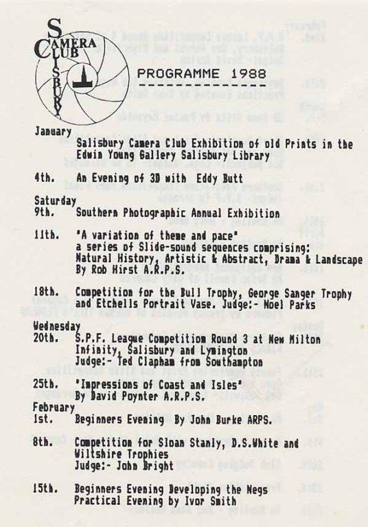 Programme 1988