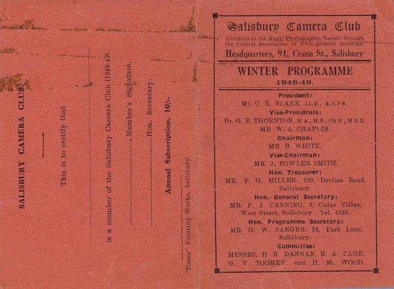Programme 1948-1949