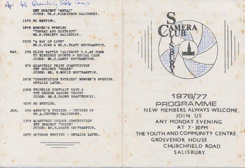 Programme 1976-1977