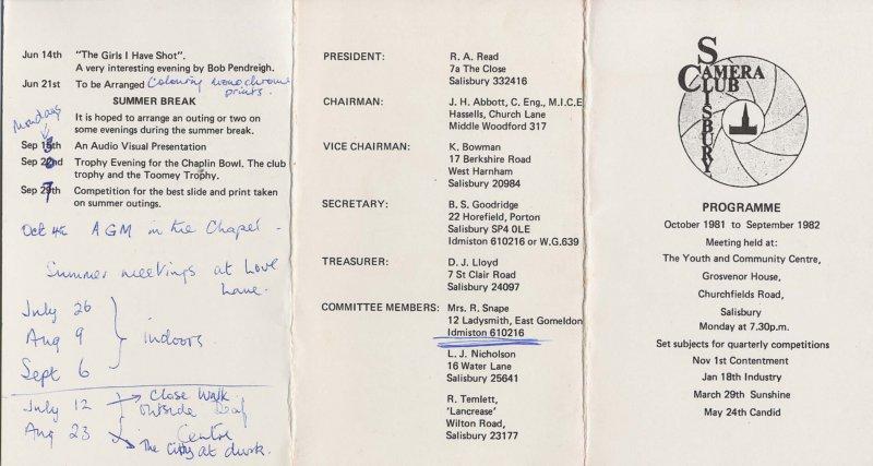Programme 1982