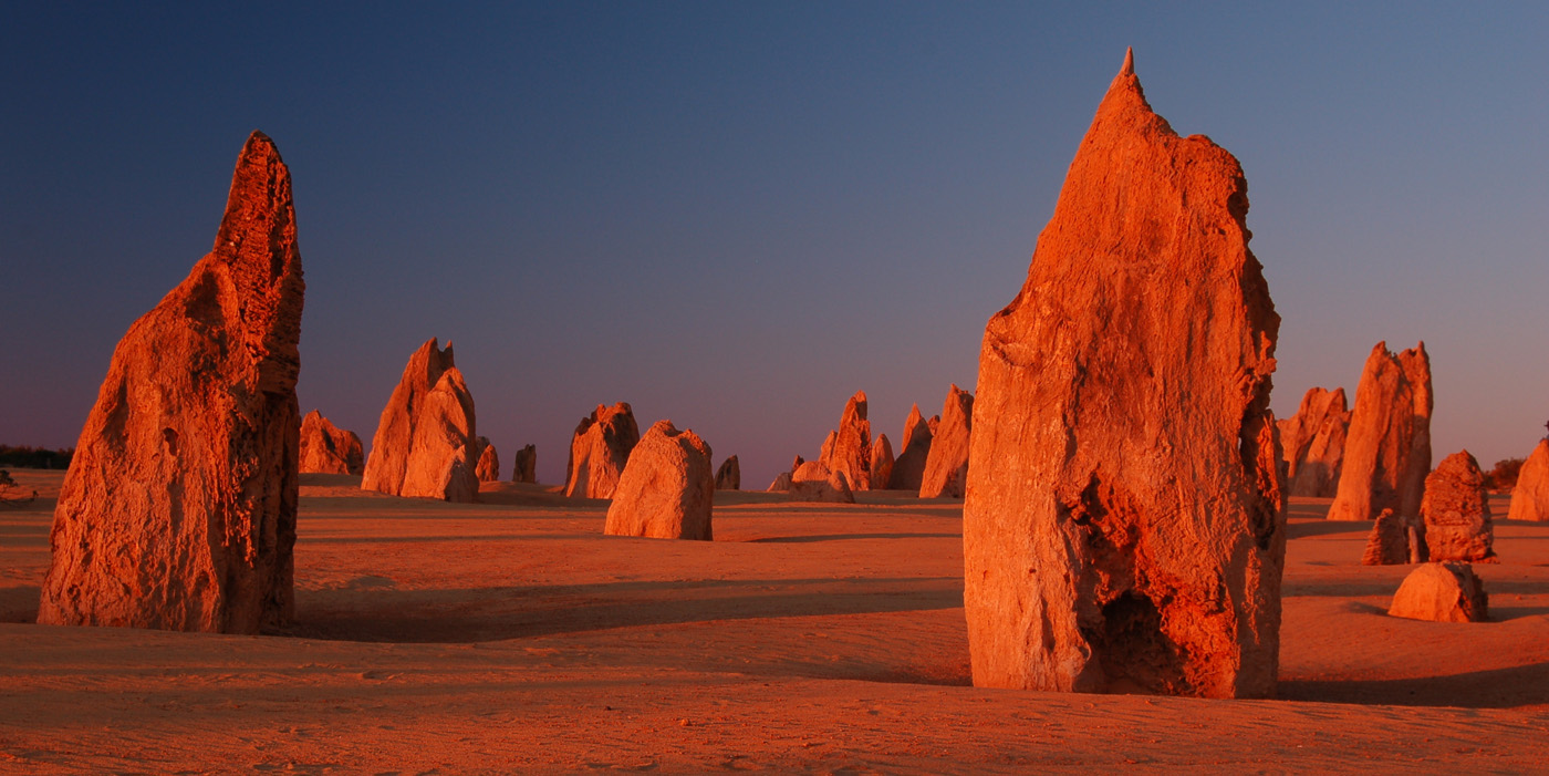 'Pinnacles at sunset' by Dave Horscroft