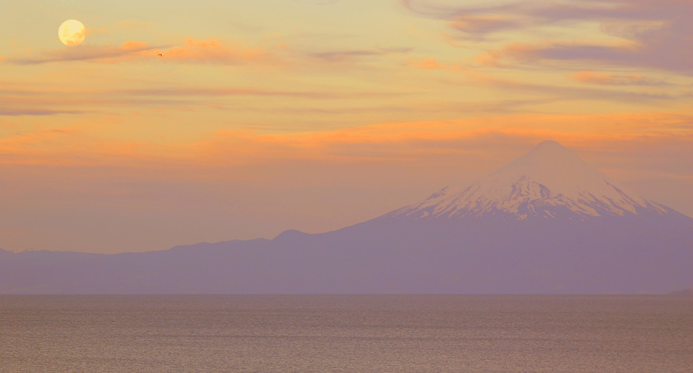 'Osorno volcano at dusk' by Dave Horscroft
