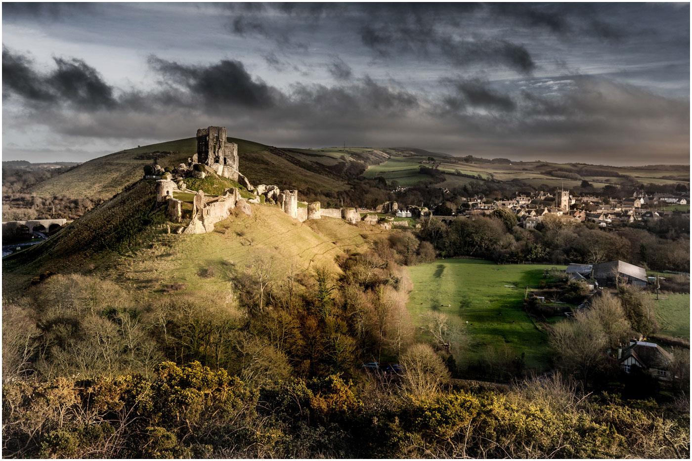'Corfe Castle' by John Barton