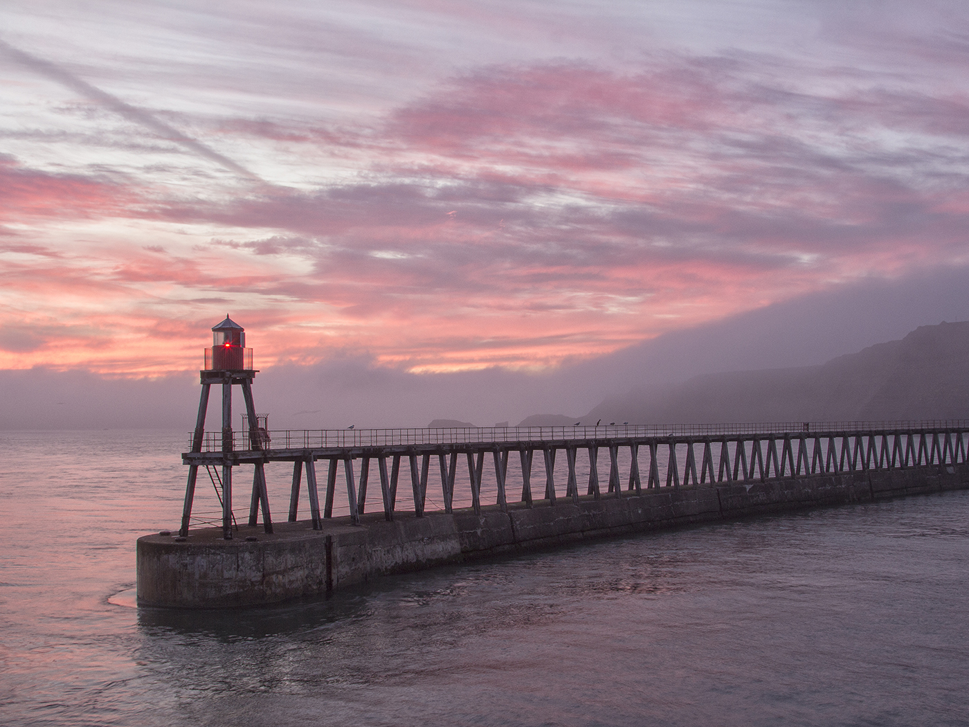 'Whitby Dawn' by Tony Oliver