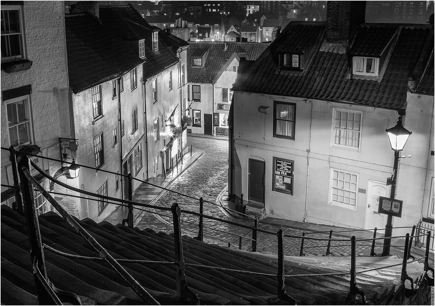 Whitby at night' by Tony Oliver