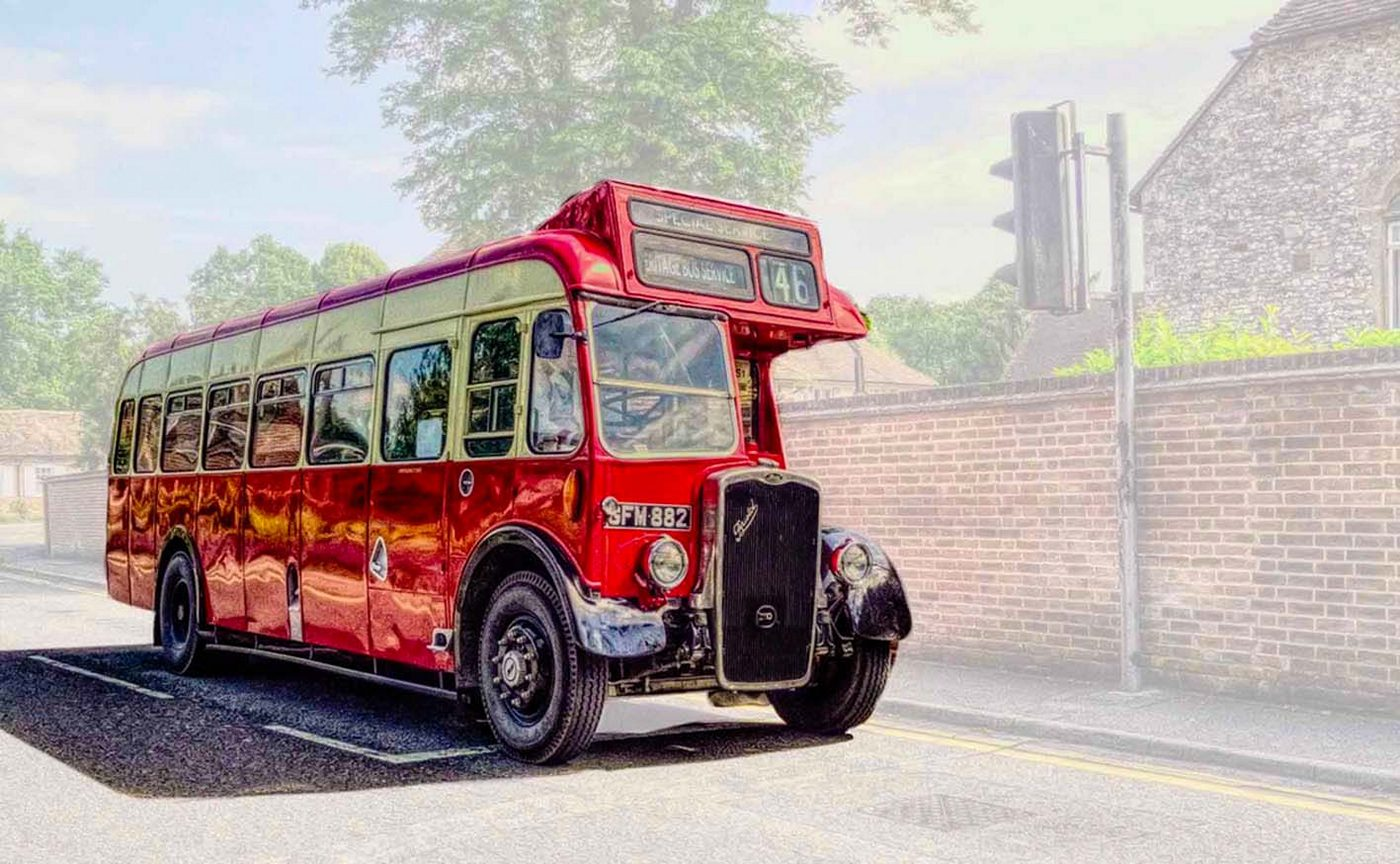 'Ancient Red Bus' by Peter Read