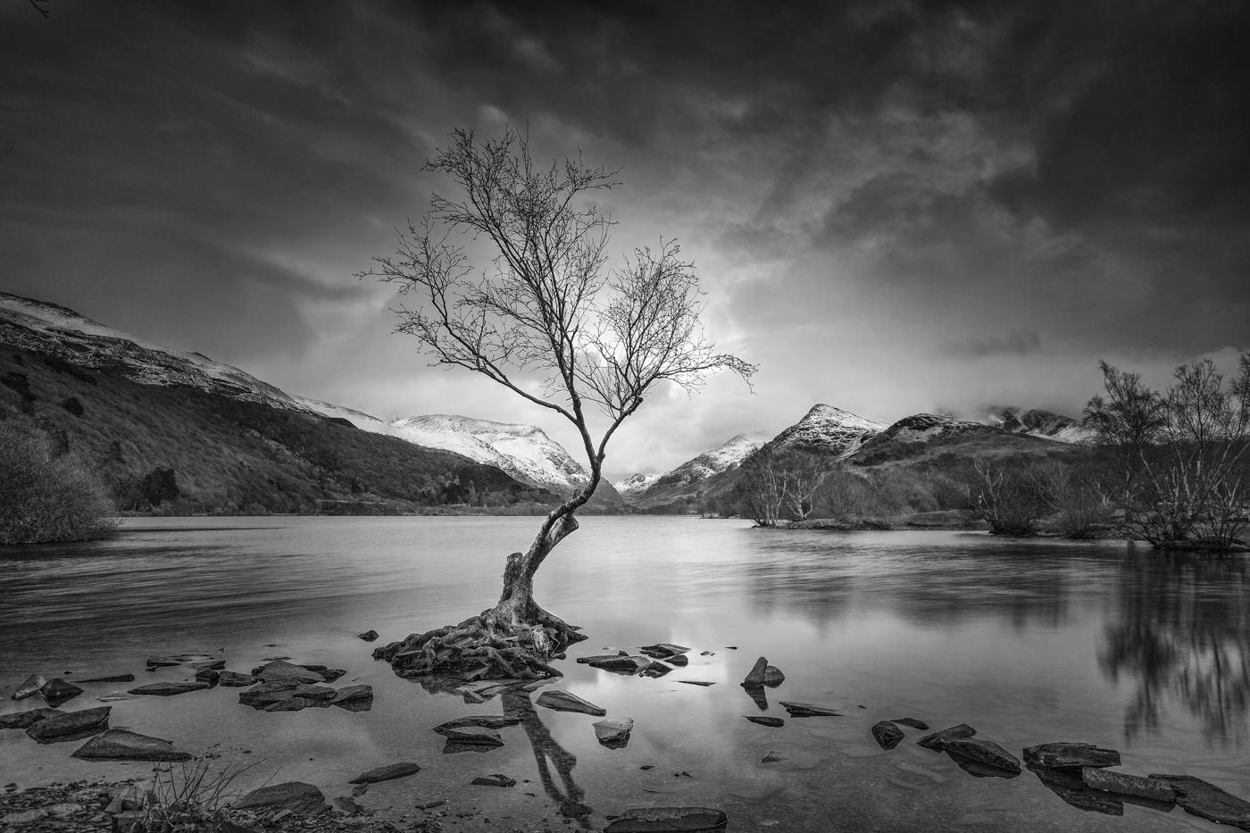 First 'Storm Brewing Over Llanberis Lake' by John Barton