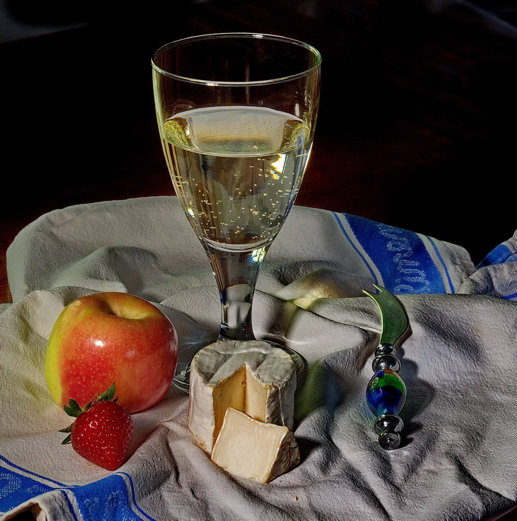Highly Commended 'Wine with Cheese' by Roger Kent