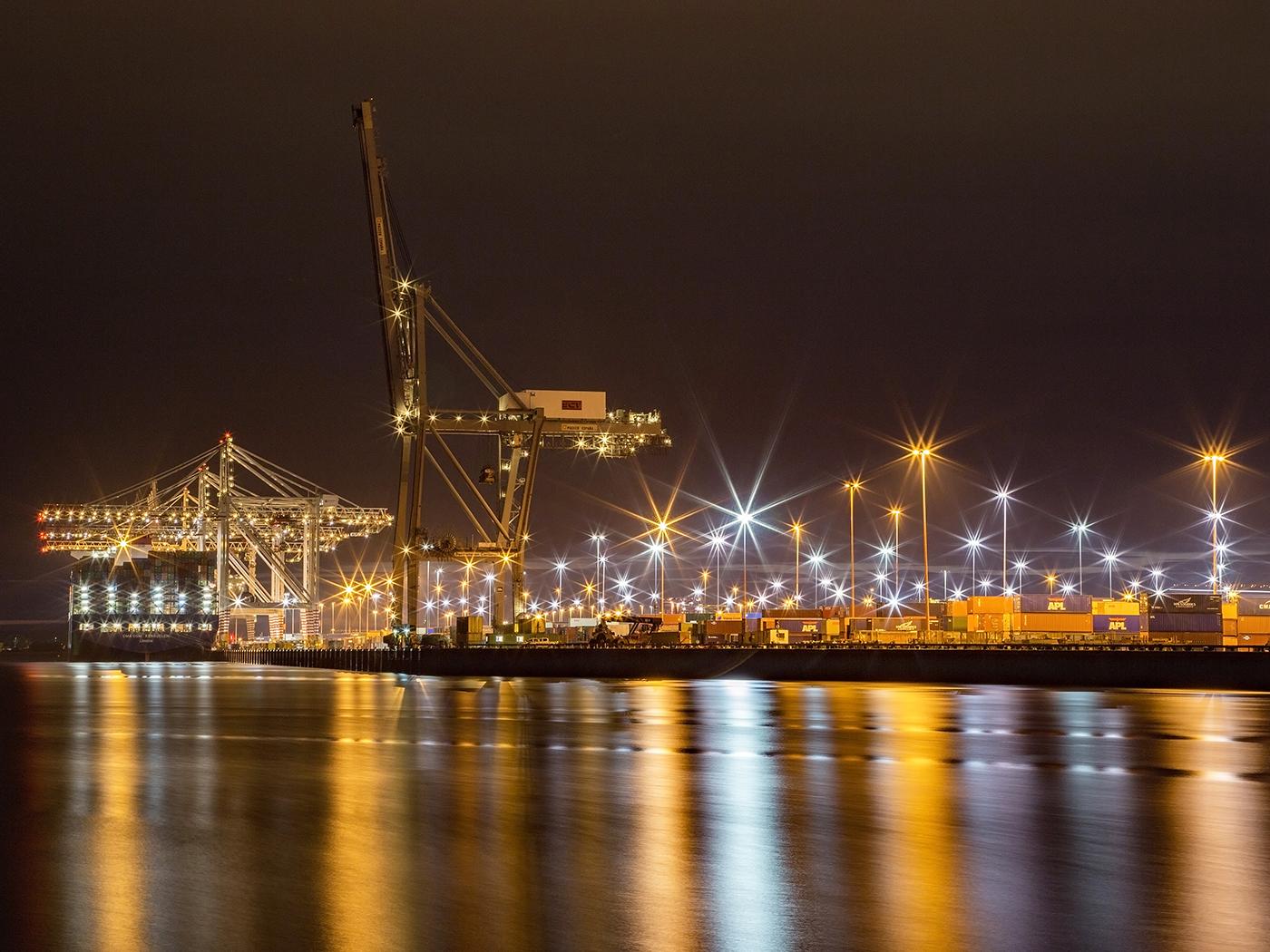 'The docks at night' by Sarah Shelley