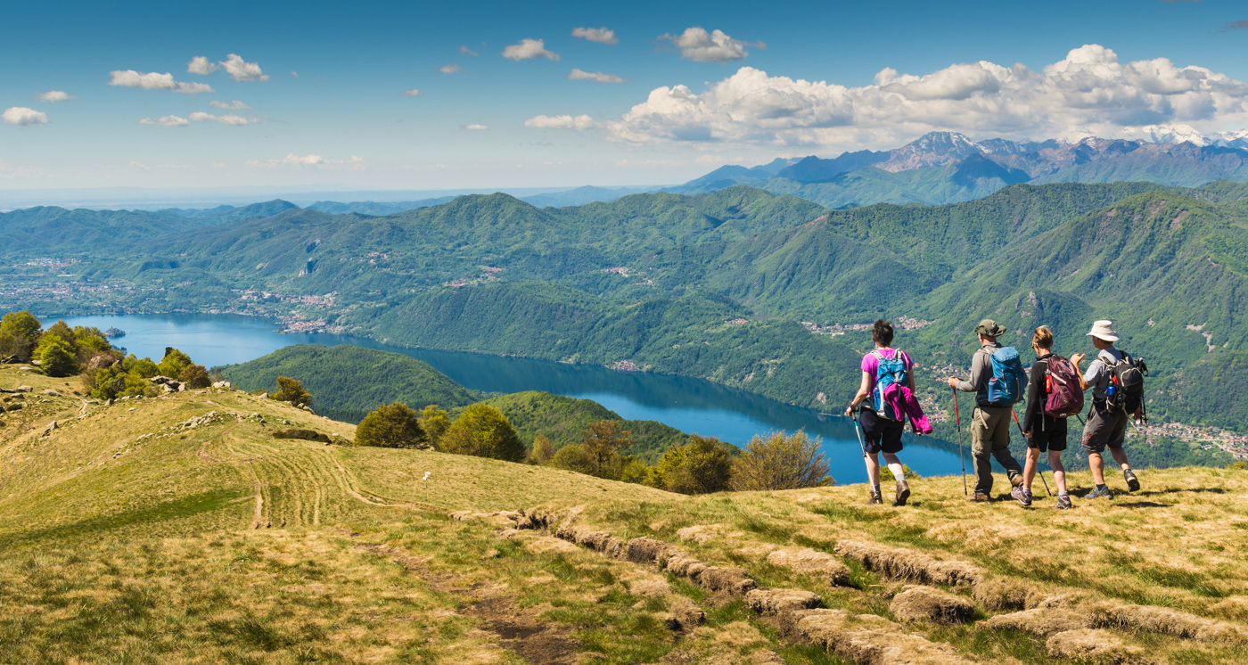 First 'Walking above Lake Maggiore' by Mike Brown