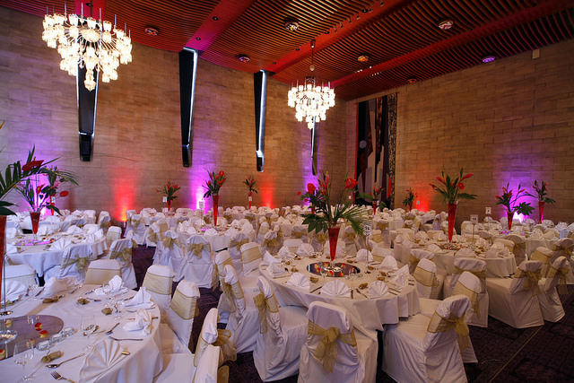 The Banqueting Hall at the civic Centre can hold hundreds of guests.