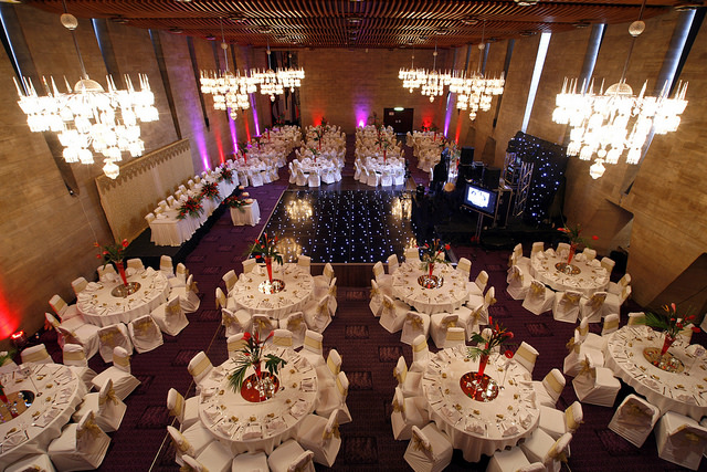 The Banqueting Hall set up for a very large wedding. If I remember correctly I conducted this asian wedding!