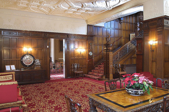 The lobby of the Mansion House has a grand staircase where the bride can make her entrance