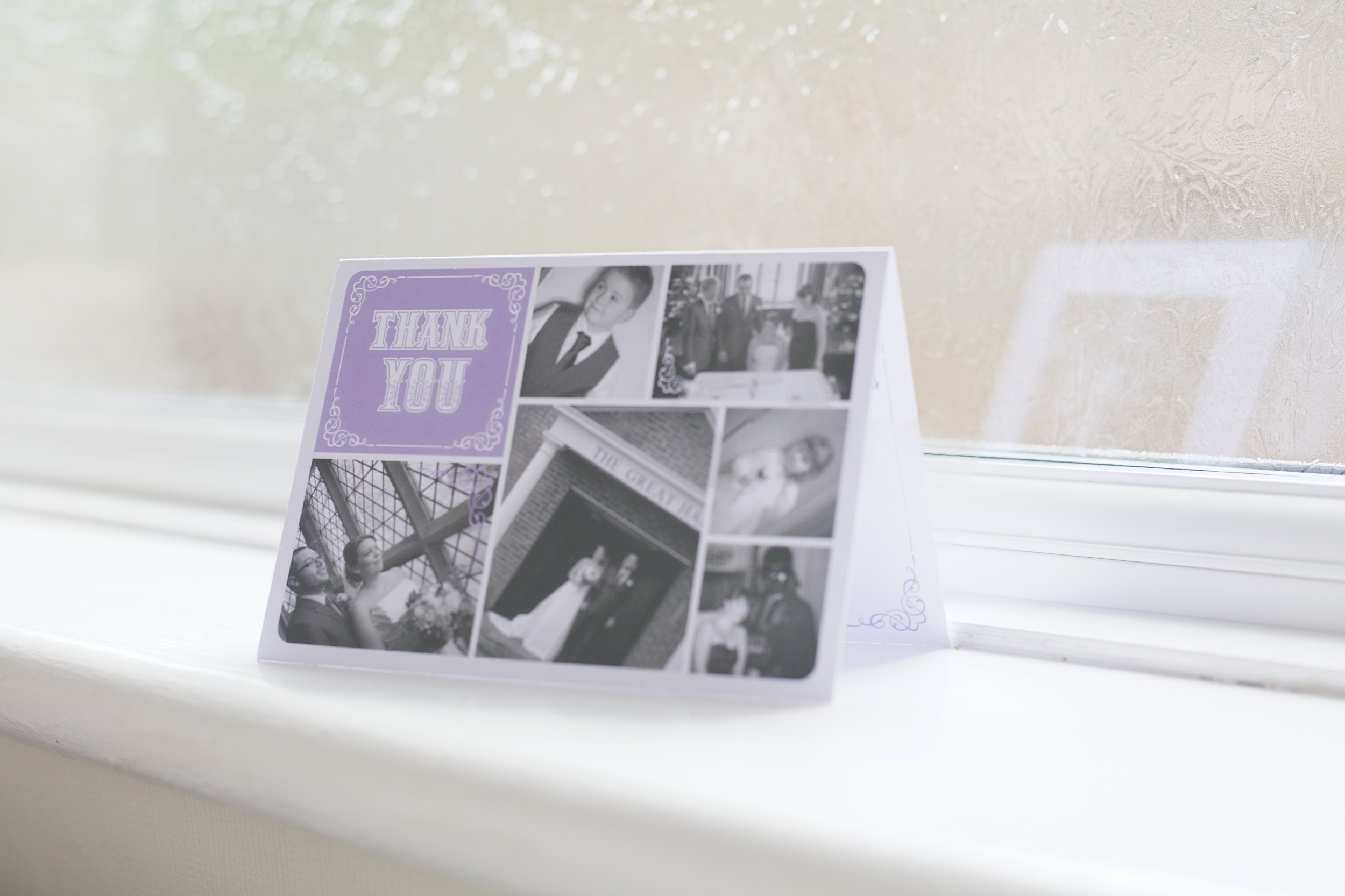 Thank you card from Lynne and James - Redworth Hall 2014