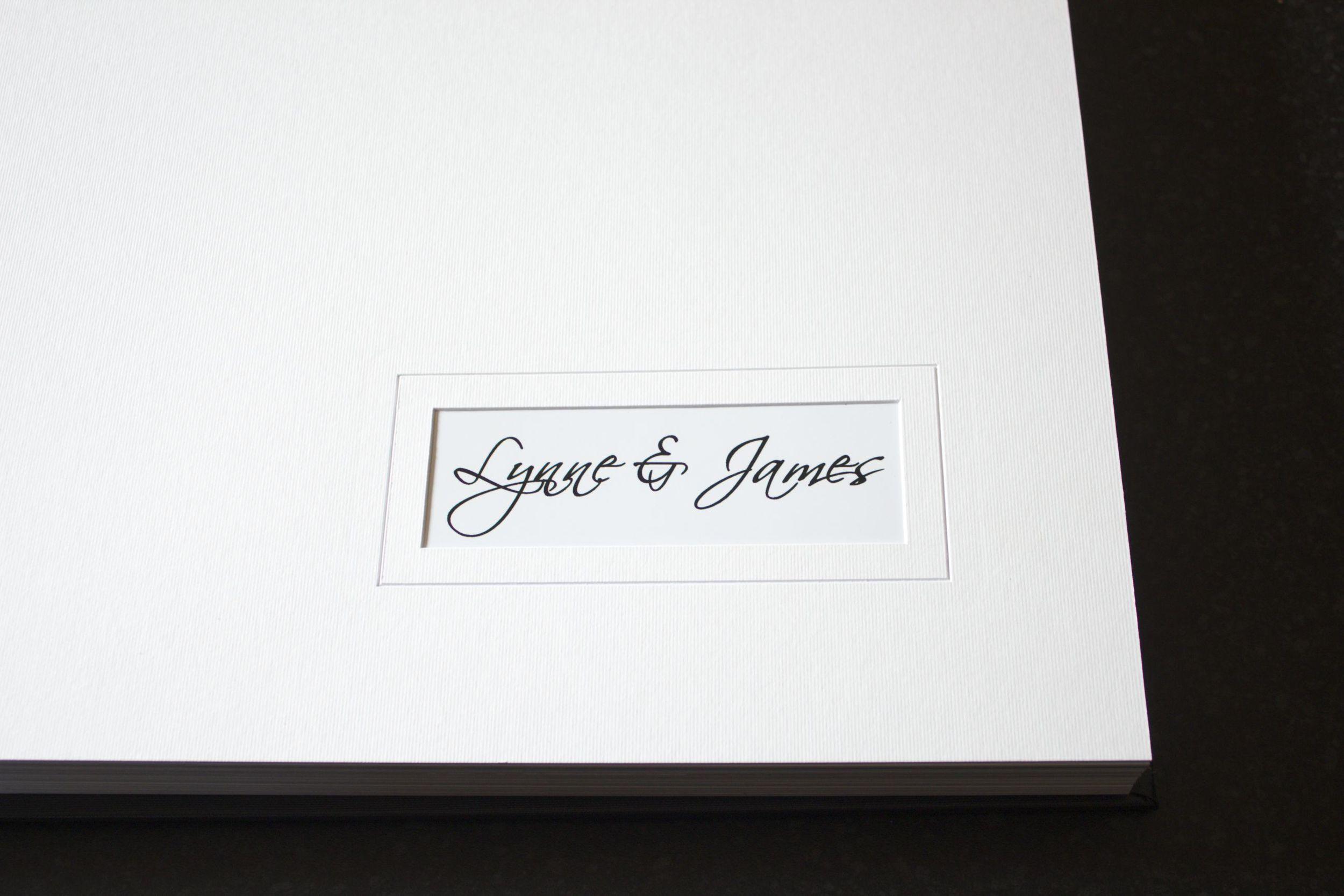 Tony Sarlo Wedding Album - First Page