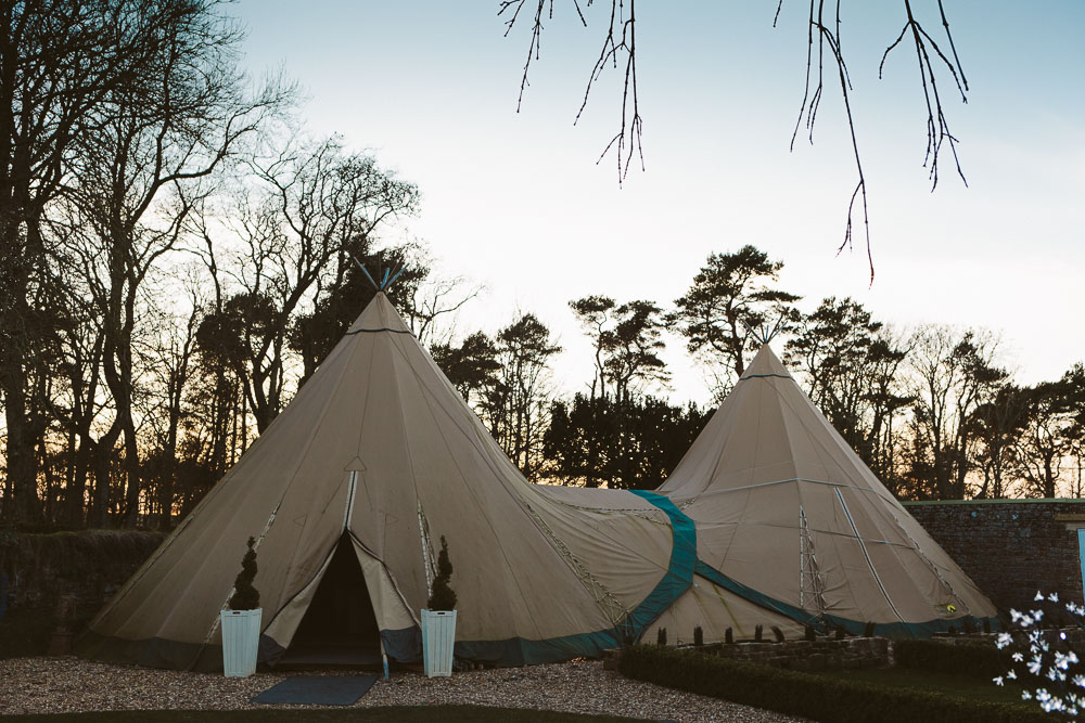 Marquee for large weddings at Woodhill Hall