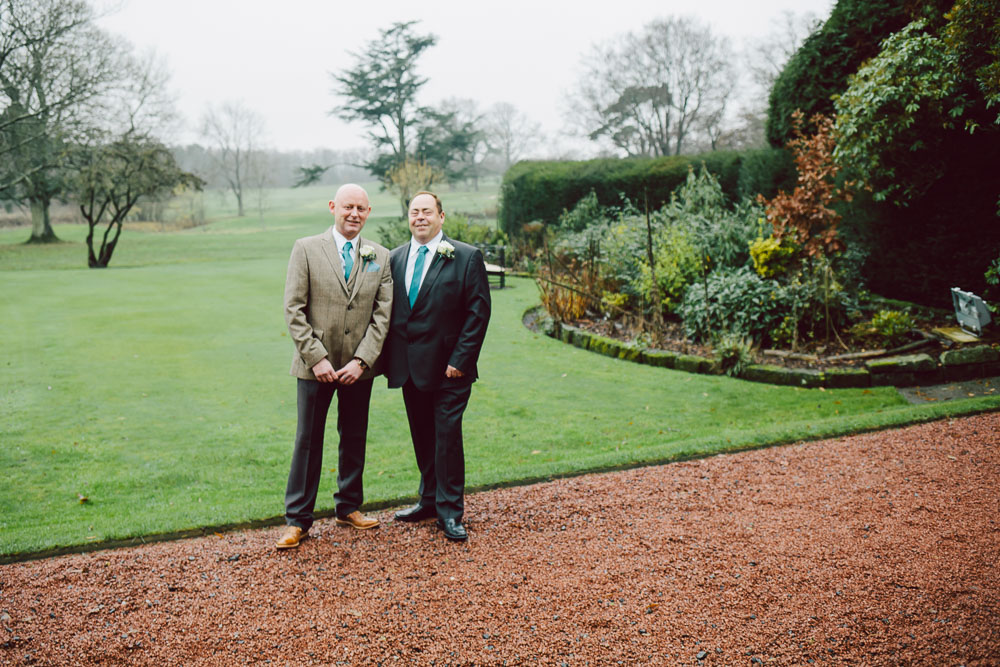 In a break in the weather I managed to get Kevin, the groom, and his best man out in the grounds of Linden Hall