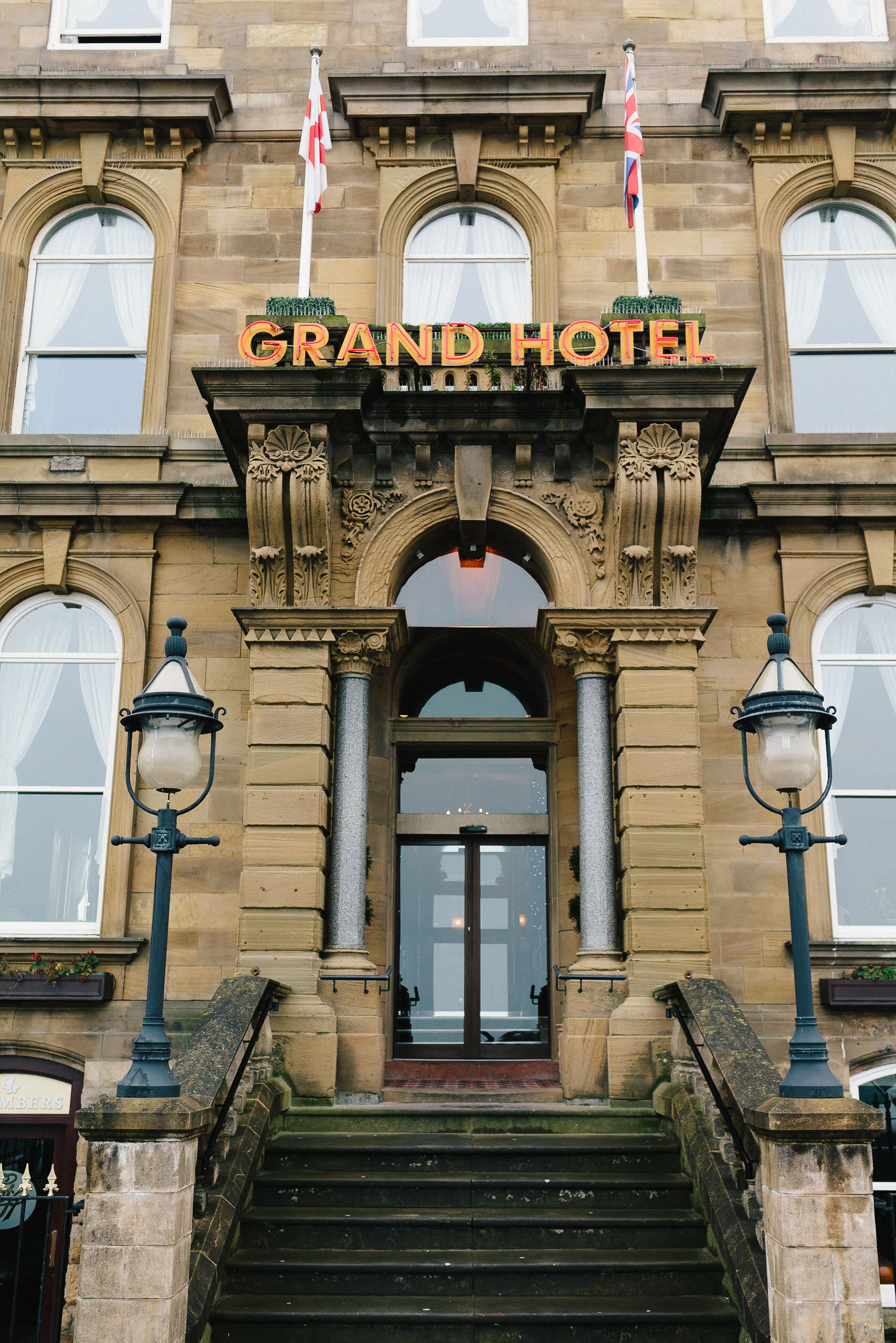 Entrance to the Grand Hotel, Tynemouth
