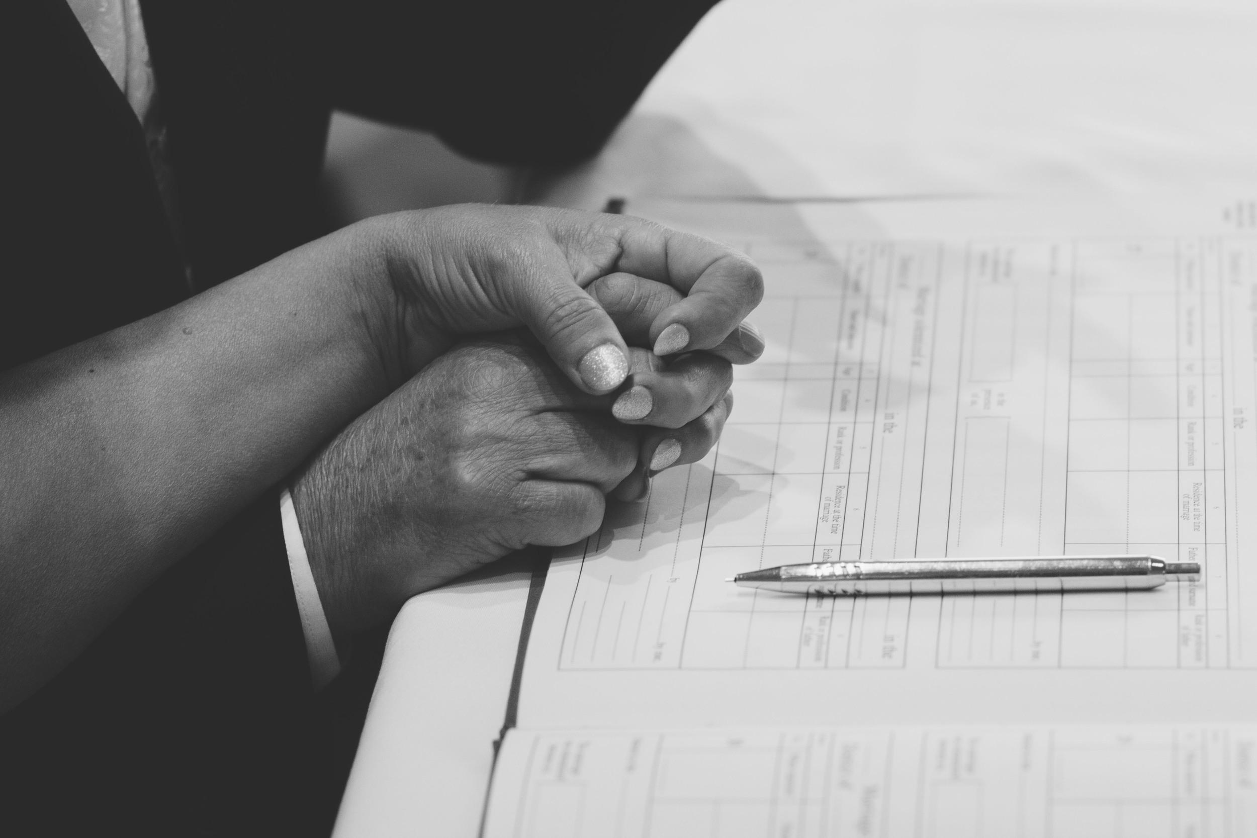Signing the Wedding Register