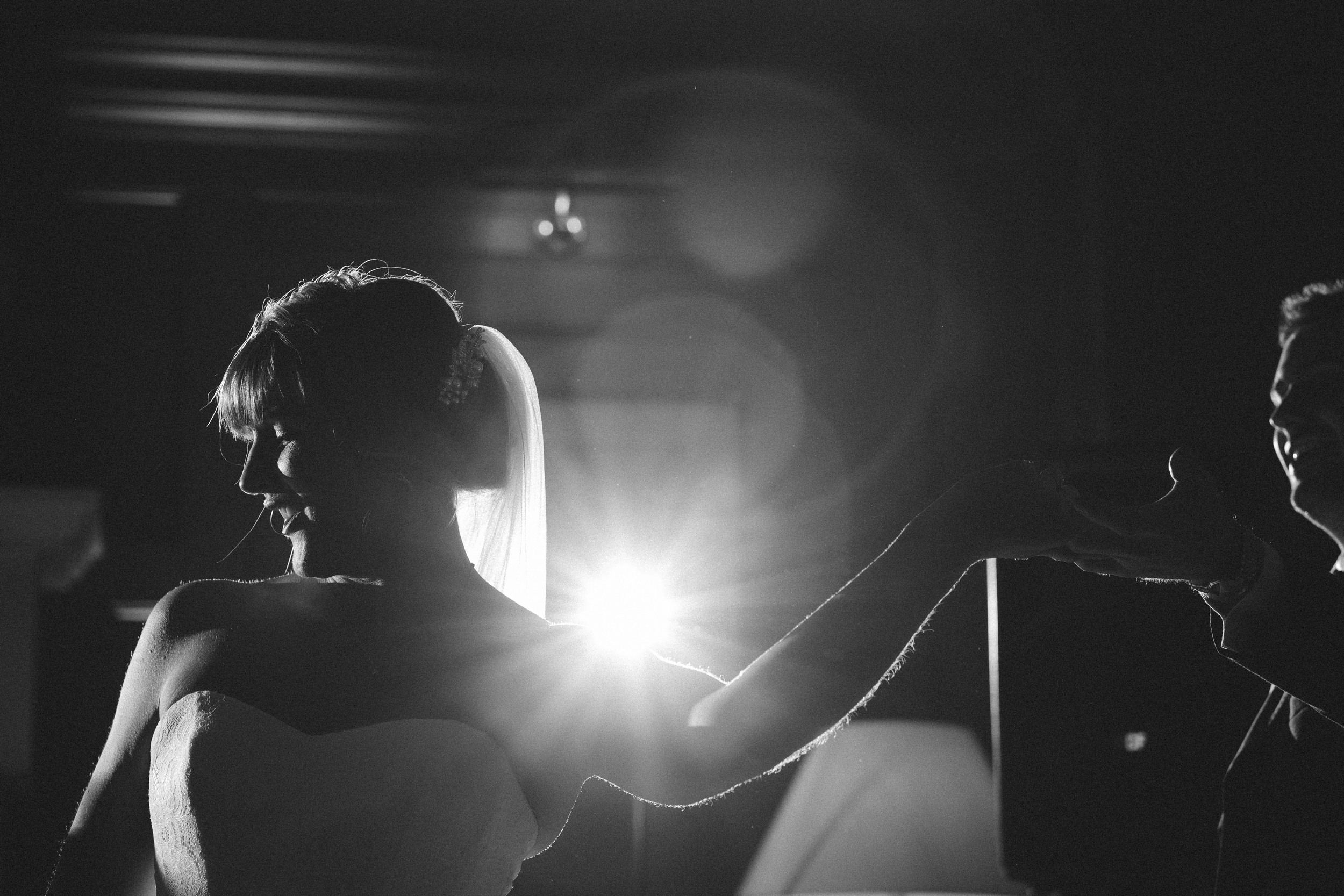 Northumberland Wedding Photographer // First dance silhouette