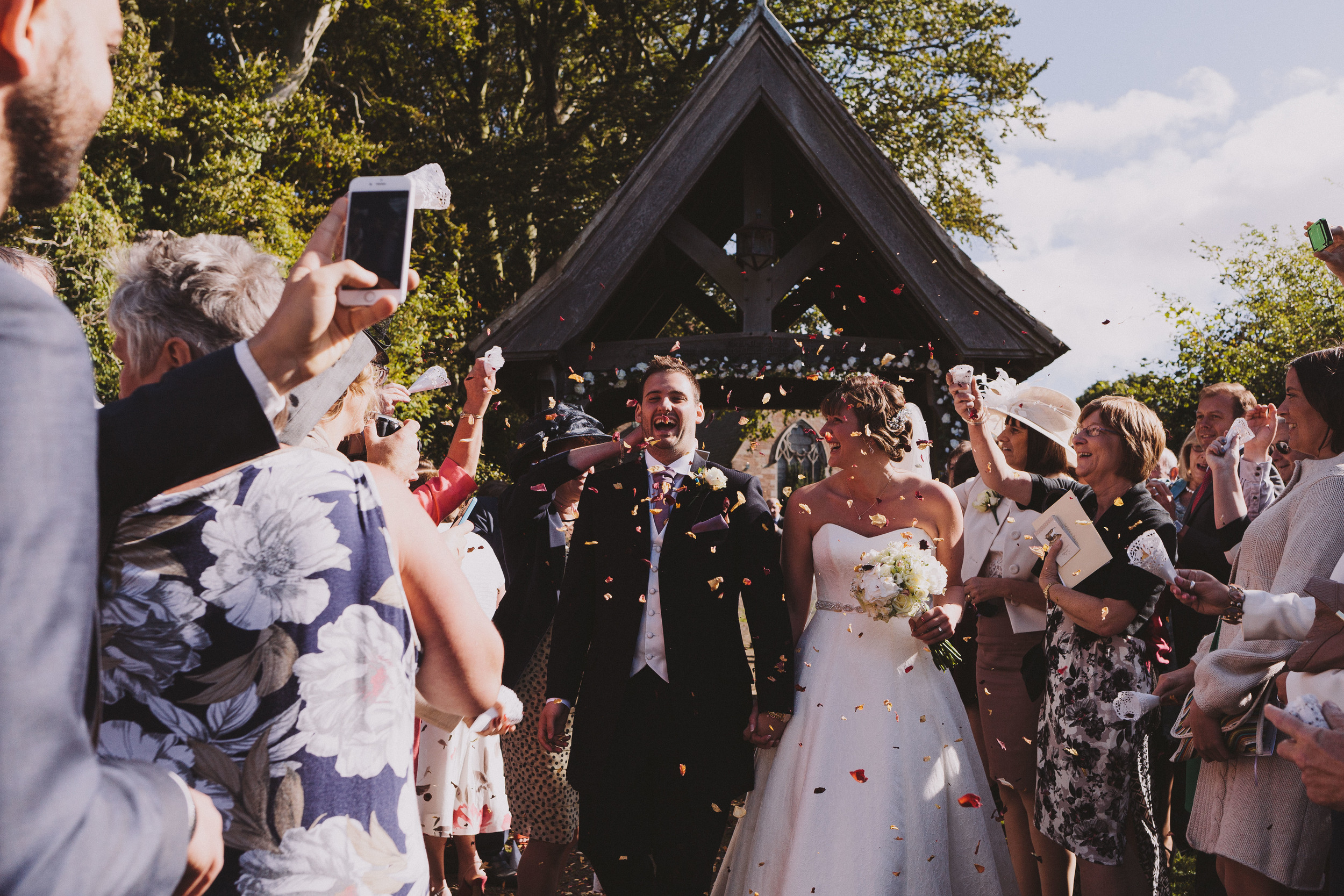 Sarah & Brys' wedding at Ellingham Hall has been featured in Brides Up North