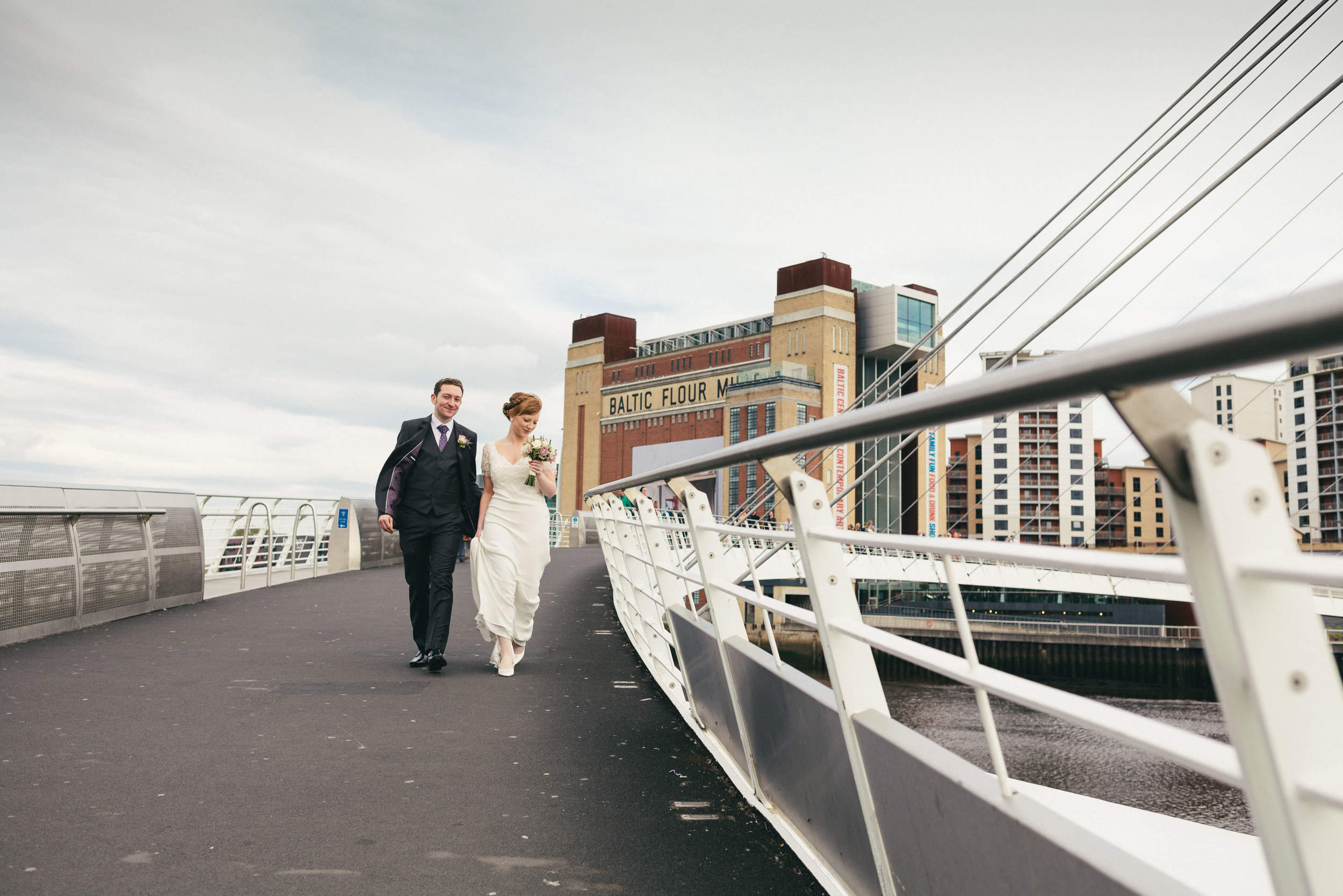 Malmaison Newcastle is in a great location for wedding photography