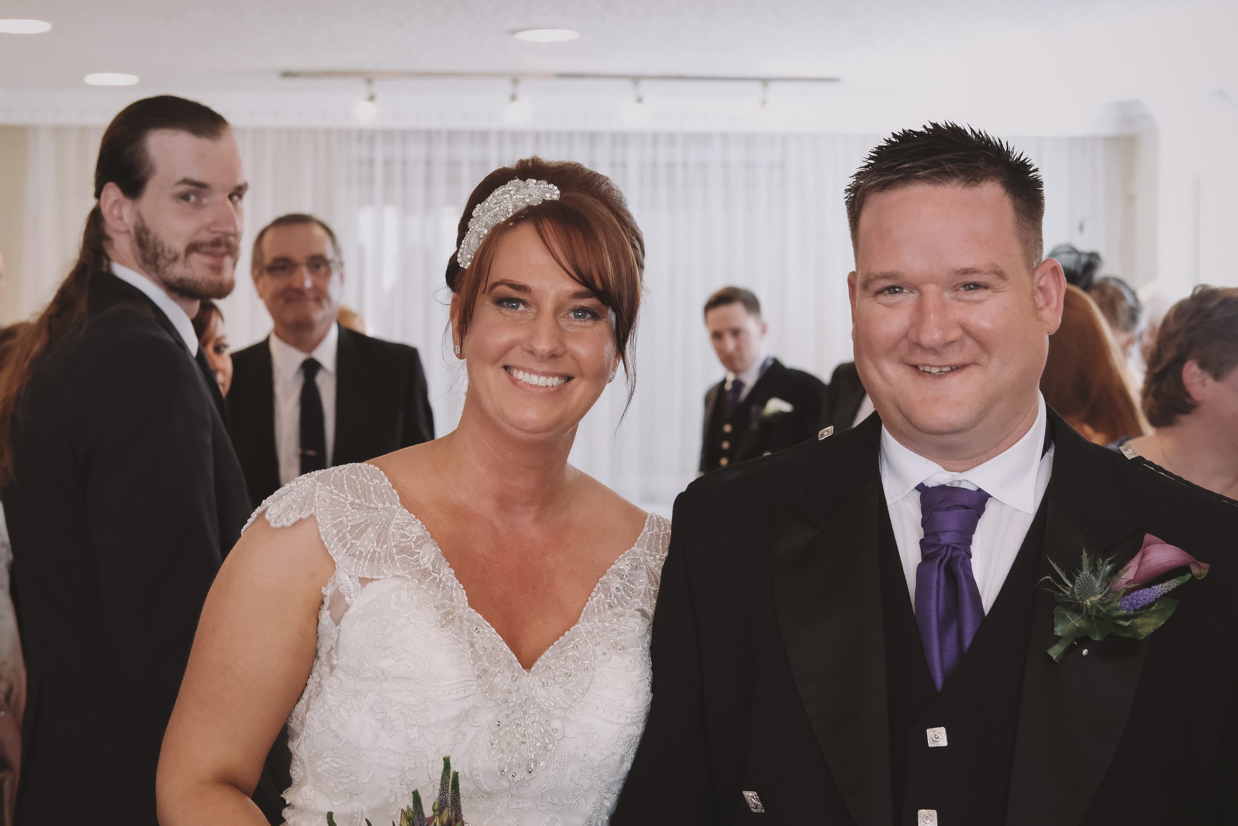 Newcastle Wedding Photographer // Bride and groom leaving ceremony