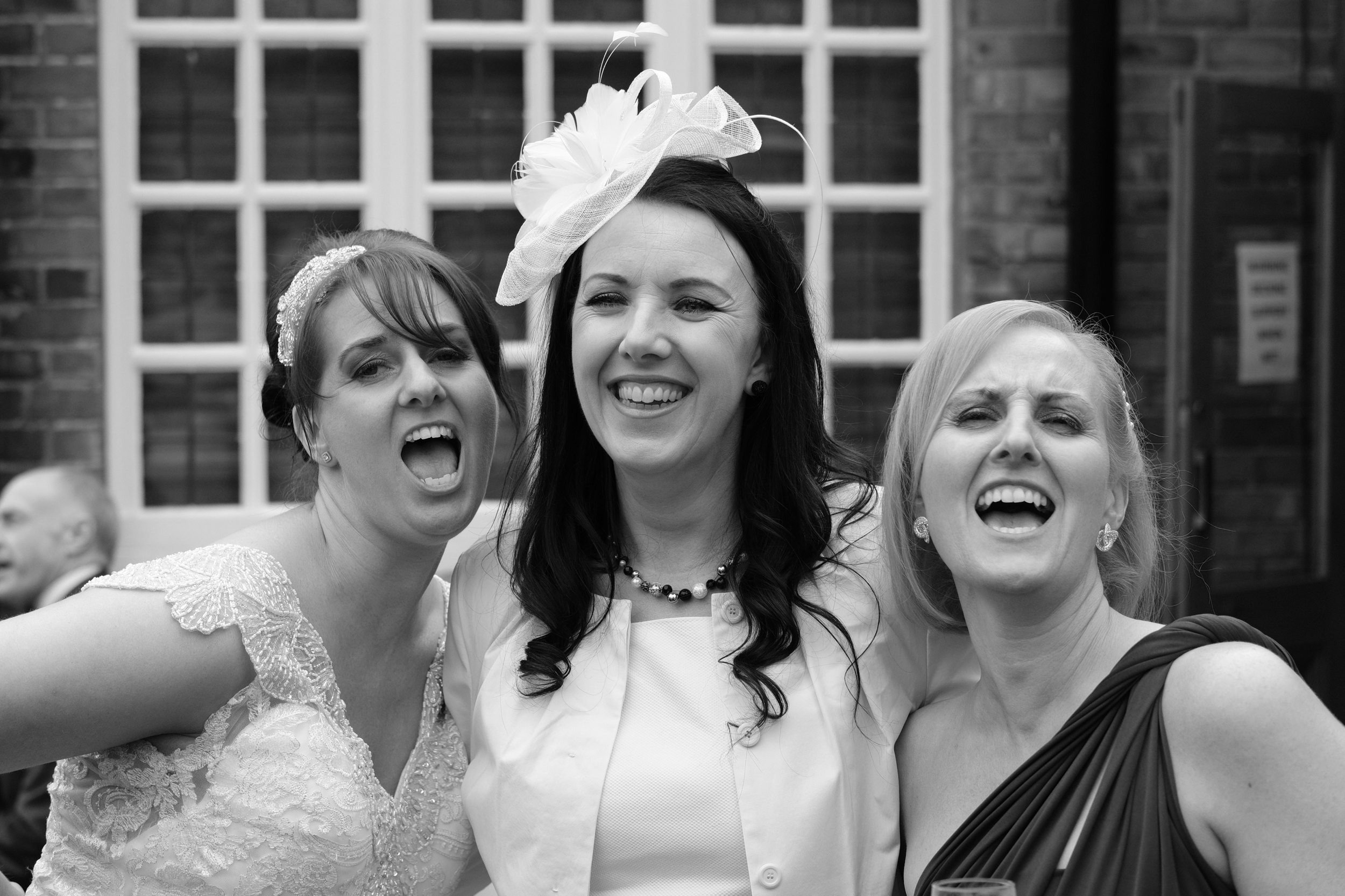 Newcastle Wedding Photographer // Bride posing with girlfriends