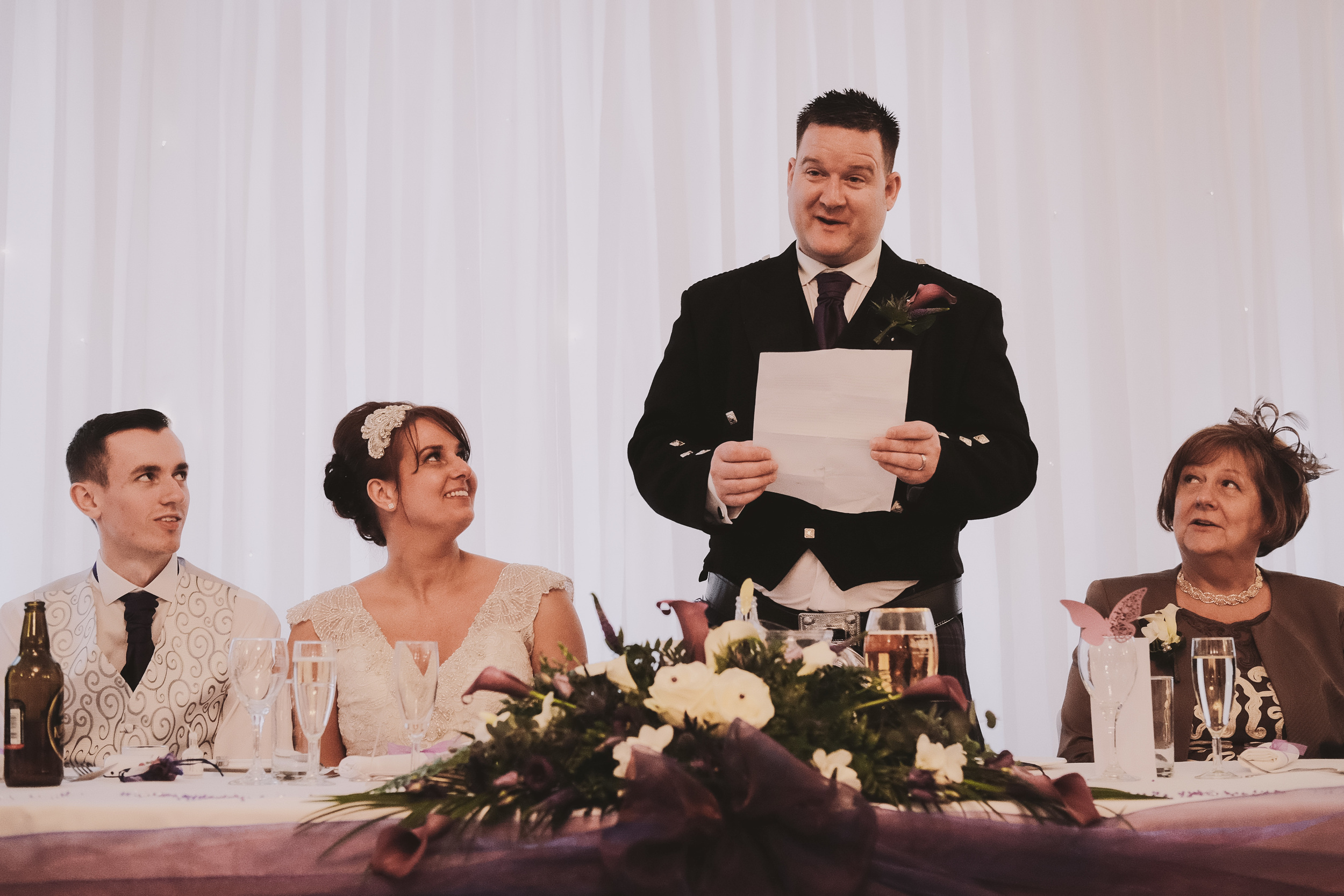 Newcastle Wedding Photographer // Groom speech