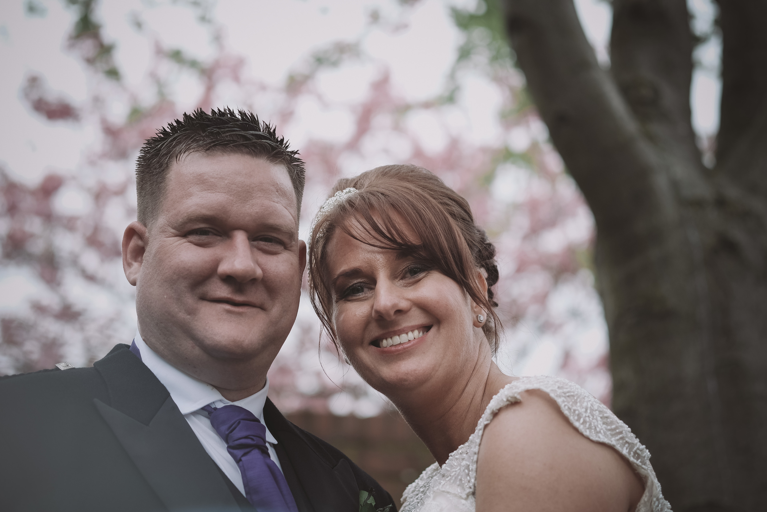 Newcastle Wedding Photographer // Close up portrait of bride and groom