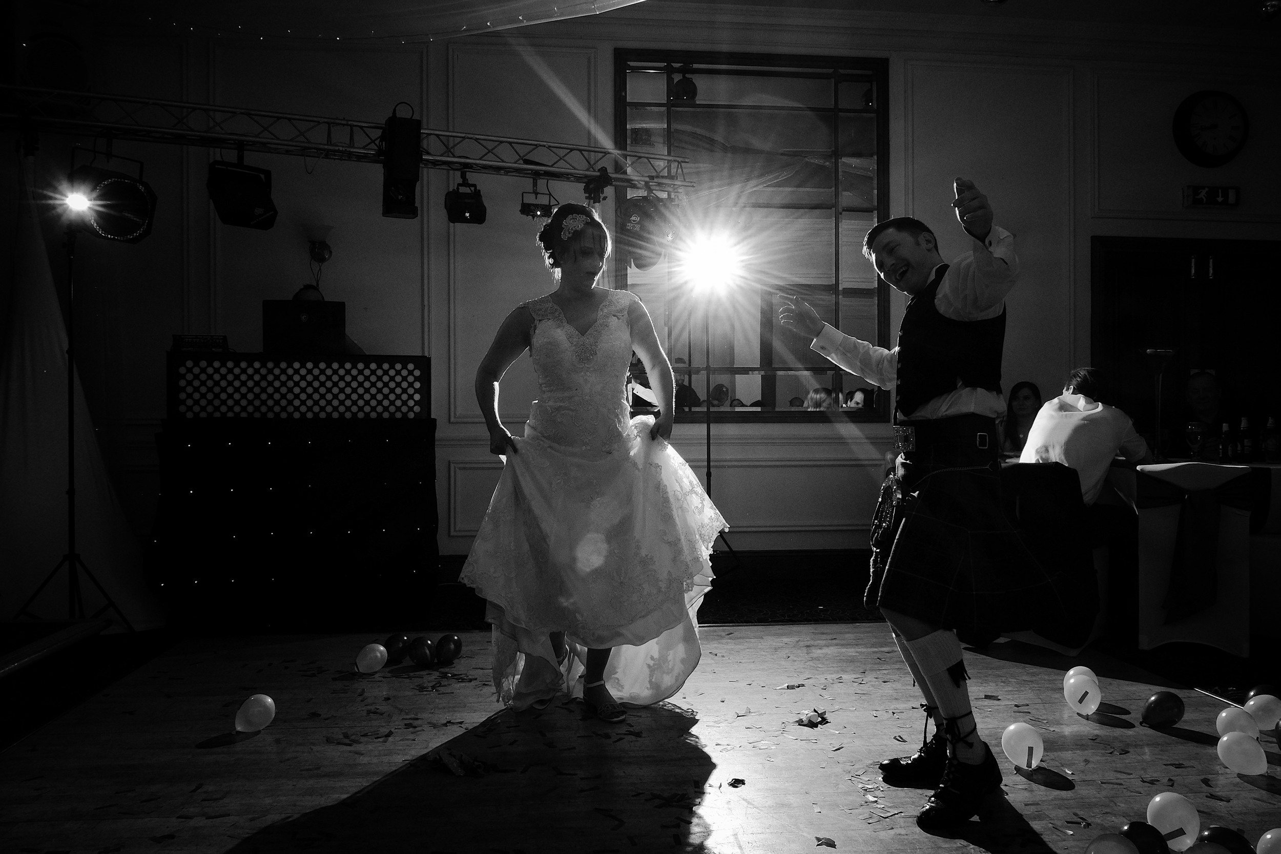Newcastle Wedding Photographer // Bride dancing with best man