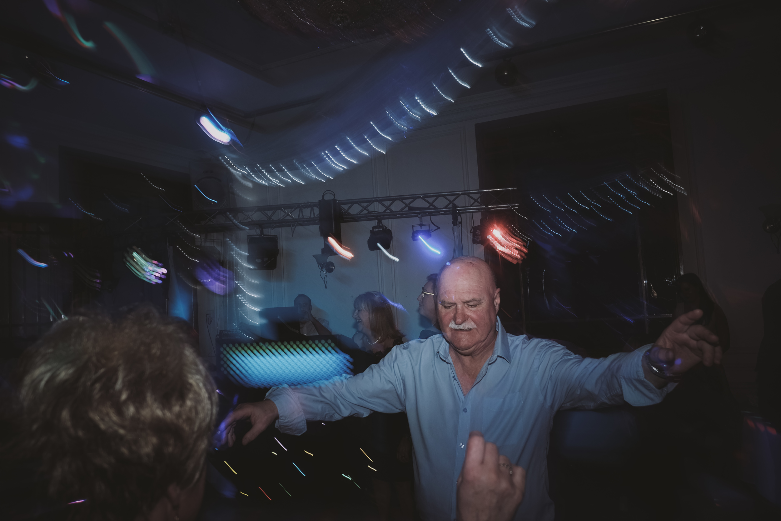 Newcastle Wedding Photographer // Older guest on dancefloor