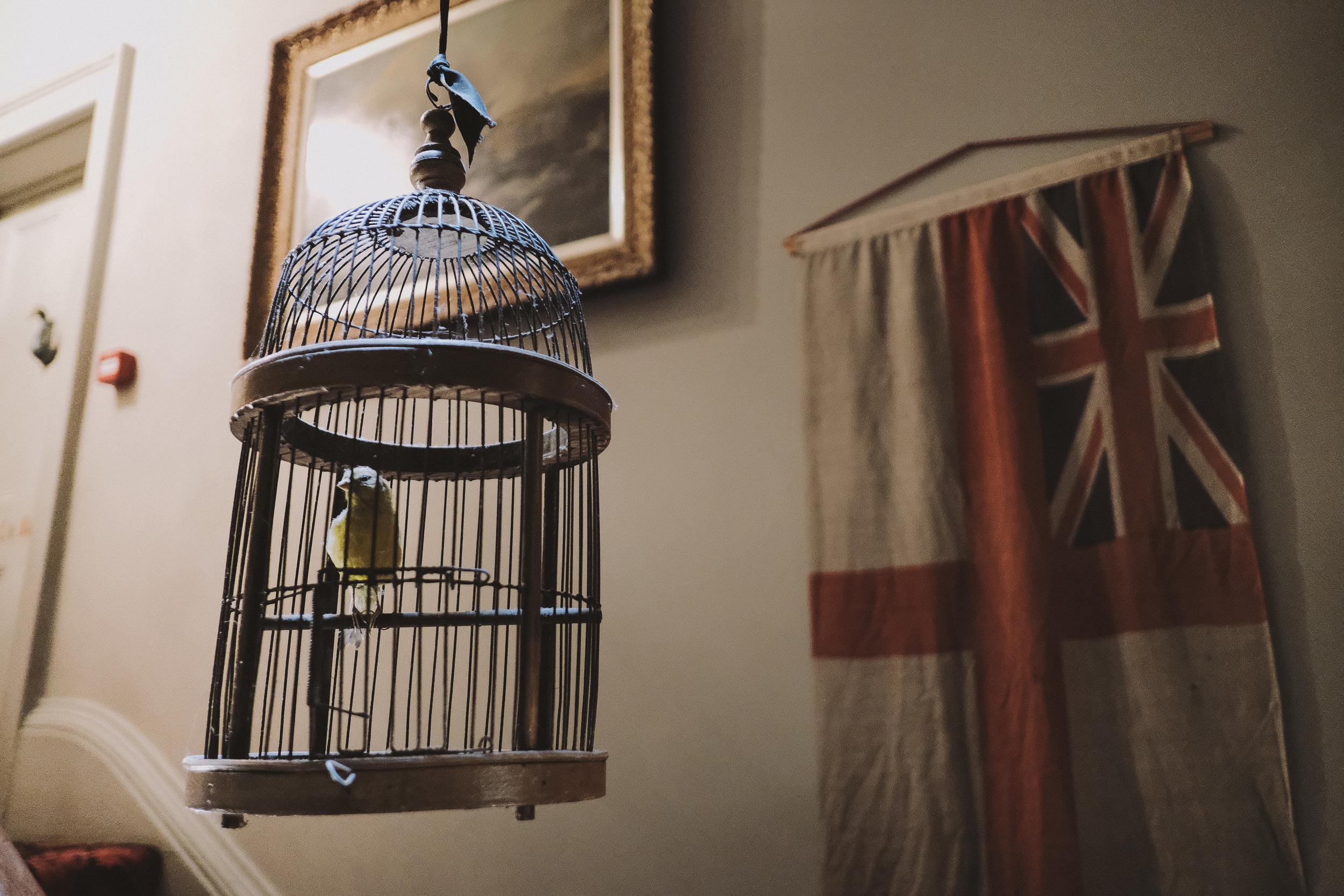 La Rosa Hotel Whitby // Birdcage and Flag // By Wedding Photographer Barry Forshaw