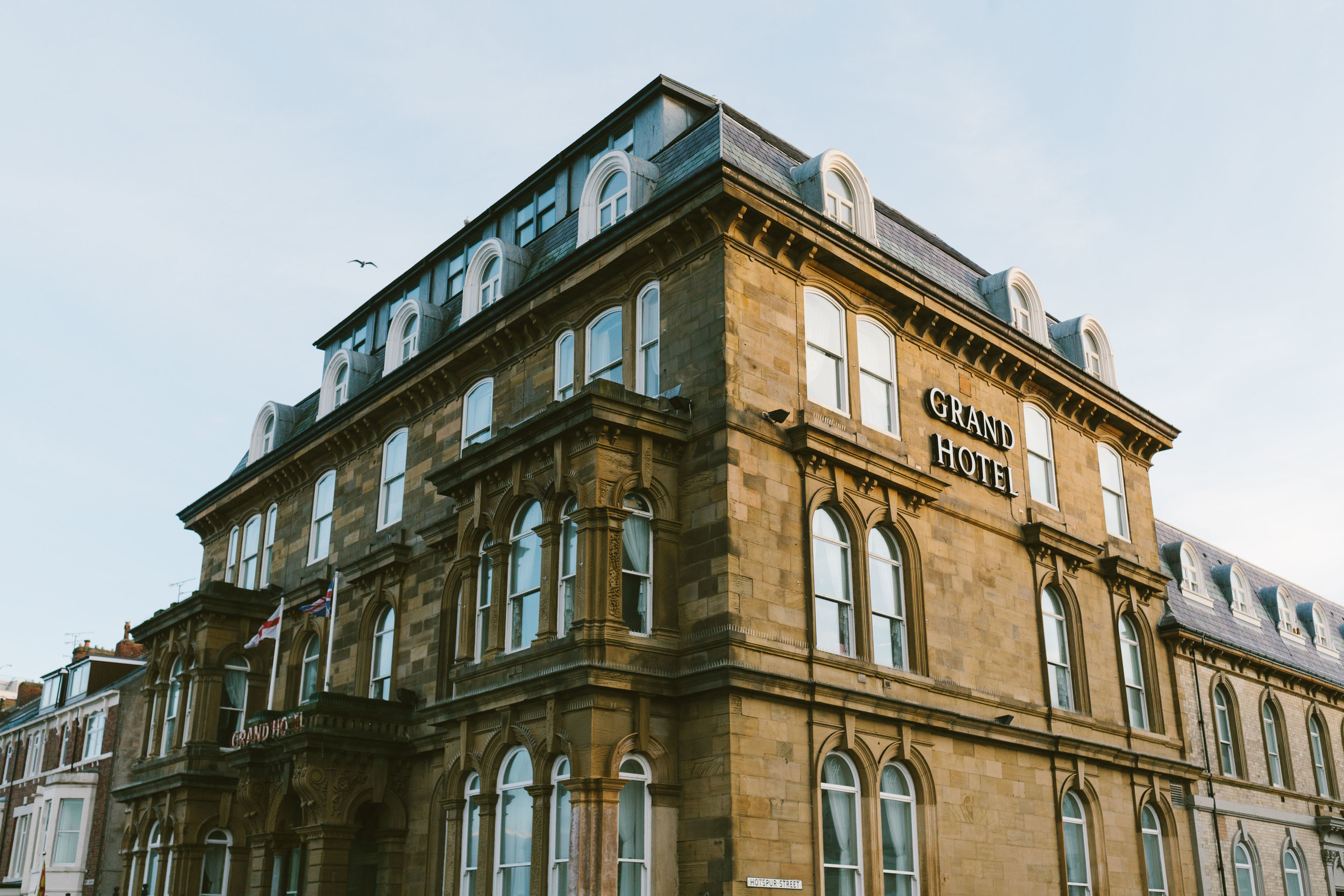 Grand Hotel Tynemouth wedding venue by Barry Forshaw
