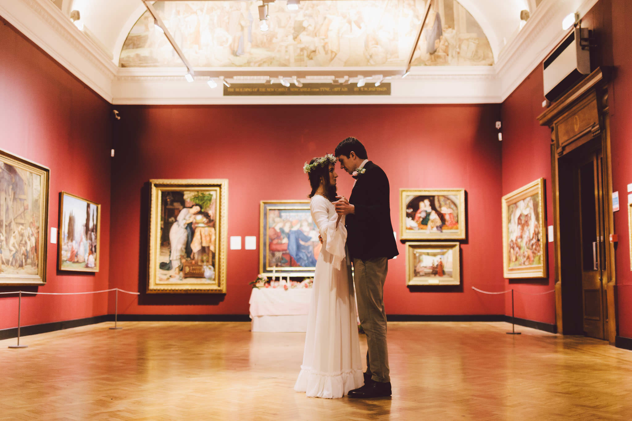 Bride and groom dance in Laing Art Gallery by Barry Forshaw