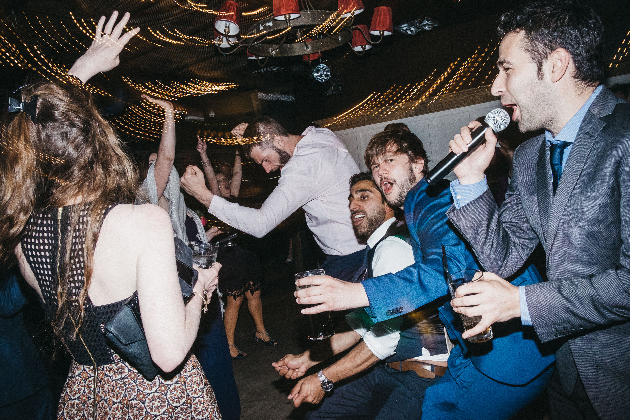 Guests party hard at wedding at As You Like It Newcastle