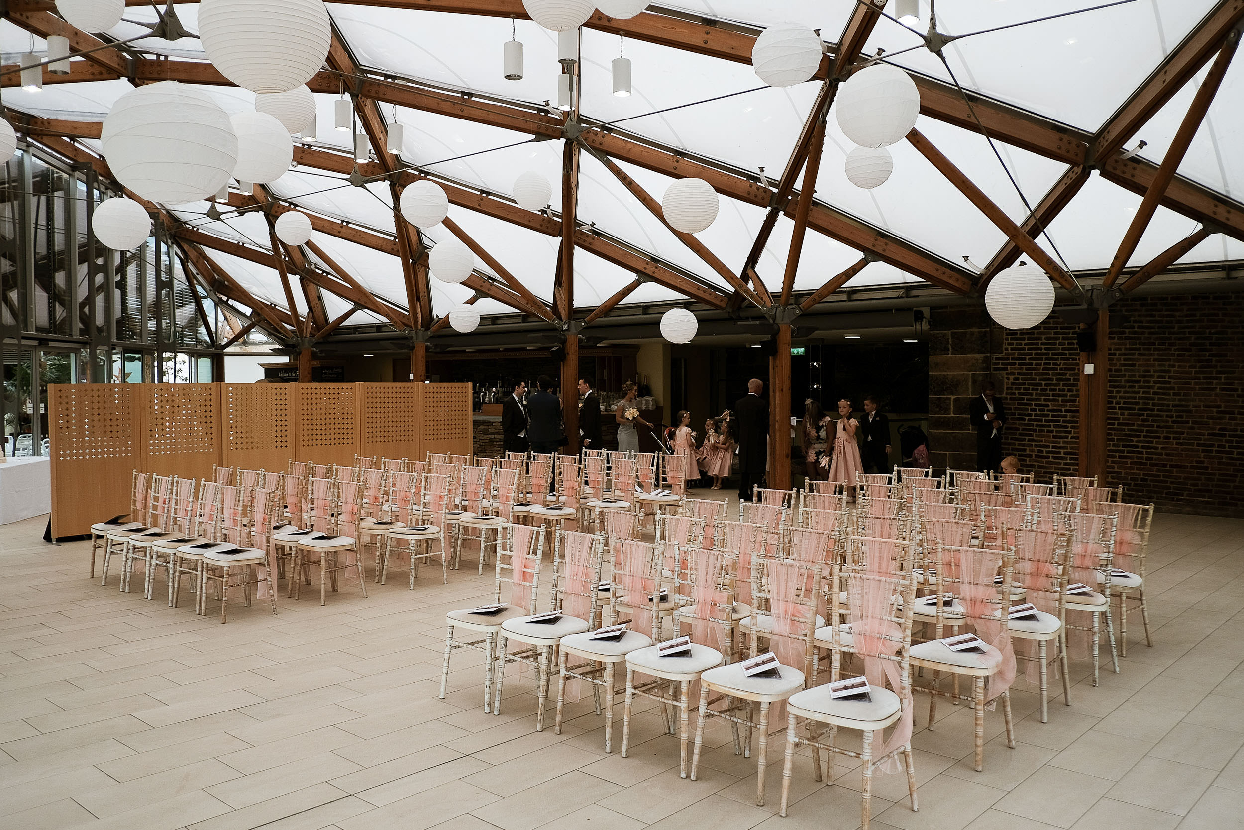 Wedding ceremony room at the pavilion the Alnwick Garden