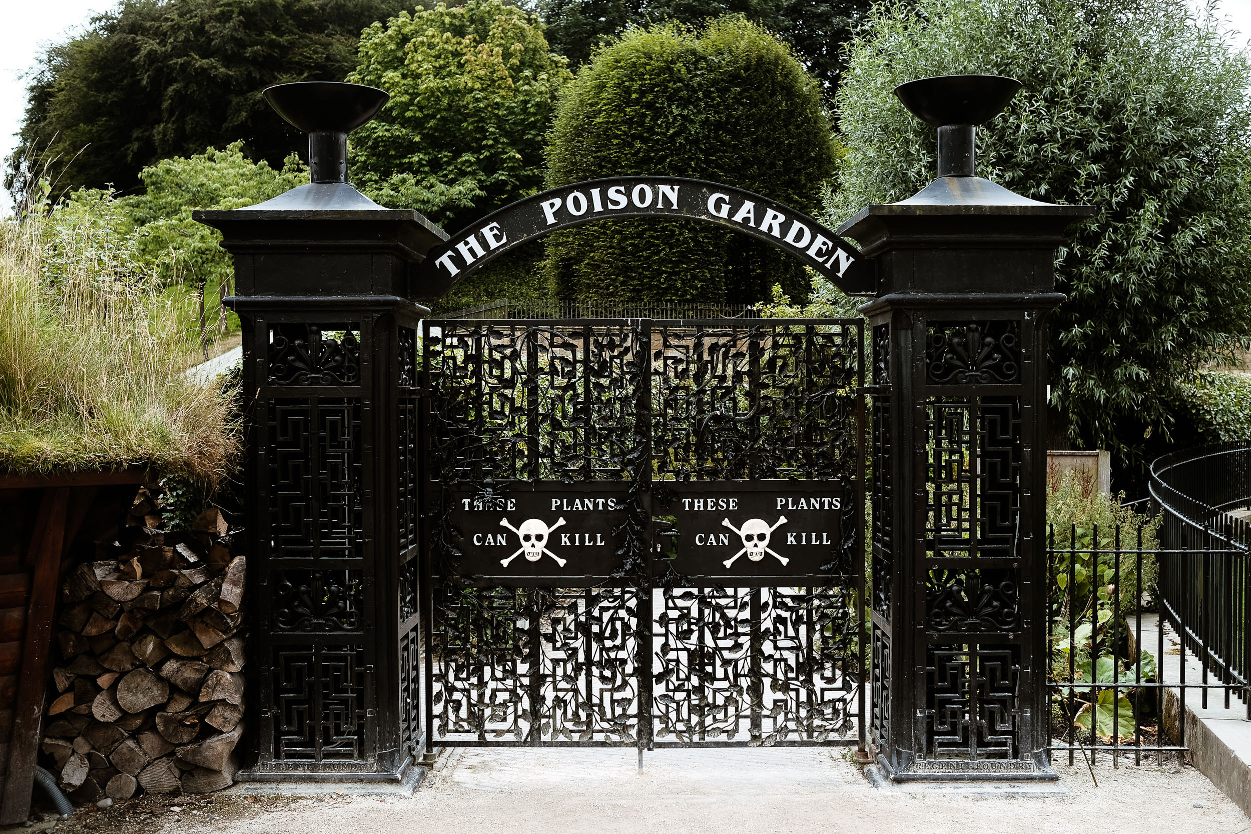 Poison garden gates at the Alnwick Garden